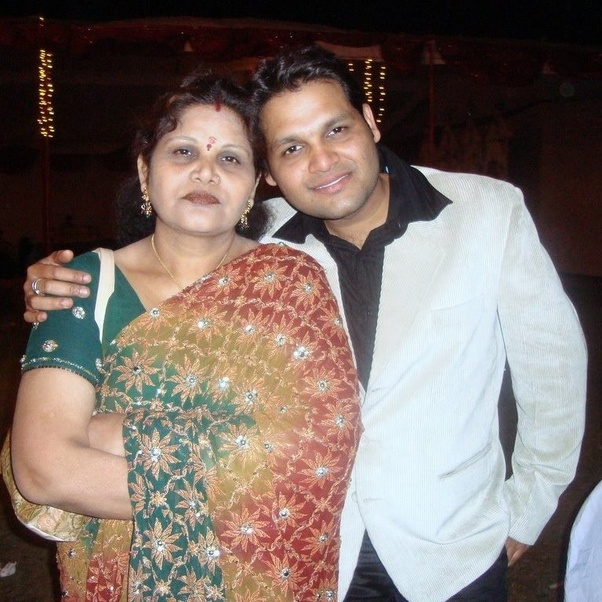 I and my mother around 10 years back
